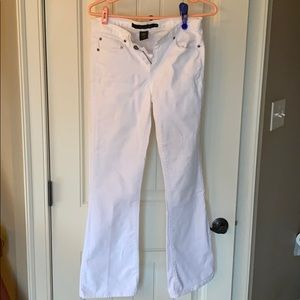 White Calvin Klein jeans size 4 rivets great shape
